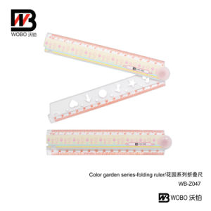 Office Stationery Colorful Flat Folding Plastic Ruler School Supplies