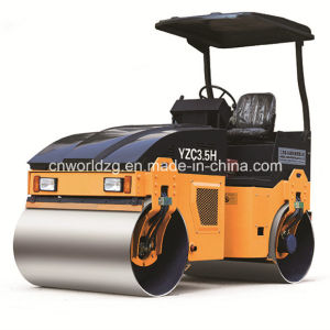 3ton Double Drum Roller with Hydraulic or Mechanical Transmission pictures & photos
