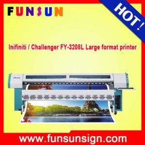 Cheap Price Infiniti / Challenger Fy-3208L 10FT Outdoor Solvent Printer with 4 35pl Heads pictures & photos