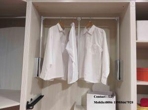 Black High Glossy Sliding Door Wardrobe (FY5697) pictures & photos
