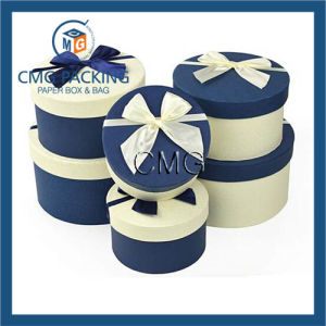 Round Jewellery Gift Boxes Bowknot Cardboard Paper Boxes pictures & photos