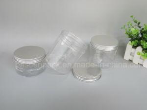 100g Clear Plastic Cream Bottle with Aluminum Screw Cap (PPC-PPJ-35) pictures & photos