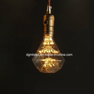 D95 firework starry LED bulb 3W 2200K yellow color pictures & photos