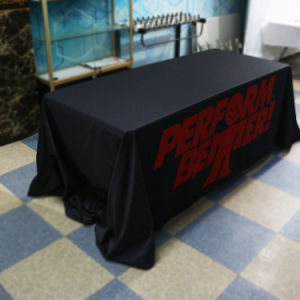 Custom Printed 6 Feet Trade Show Table Cloth Table Cover for Event pictures & photos