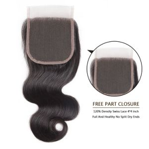 Grade 8A Brazilian Human Hair Lace Closure Body Wave16inches pictures & photos