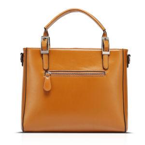 Women Oil Wax PU Leather Tote Vintage Shoulder Handbag 30*12*35cm, Multi Colors pictures & photos