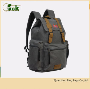 Professional Fashion Vintage Ladies Canvas School Laptop Backpacks for Womens pictures & photos