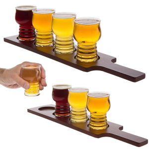 Beer Glasses Wooden Tray Beer Flight Set pictures & photos