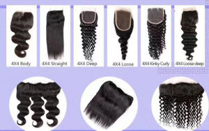 Free Stylehuman Hair Lace Closure 8A Deep Curly 22inches pictures & photos