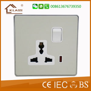 New Style Aluminium Alloy Double Computer Electrical Socket pictures & photos
