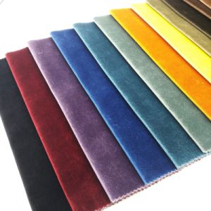Polyester Upholstery Pillow Household Textile Woven Sofa Velvet Fabric pictures & photos