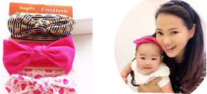 2017 Fashion Baby Hair Accessories Ribbon Bowknot Headband Cotton Hairband pictures & photos