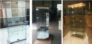 Glass Showcase/ Glass Display Cabinet/Unframed Glass Cabinet/Glas Display Counter/Exhibition Equipment/Glass Fair Case (GS-003)