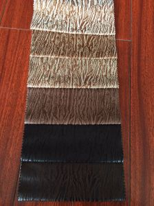 100%Polyester Knitting Fabric Suede Fabric with Bronzing pictures & photos