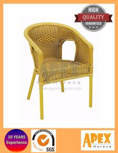 Outdoor Cafe Furniture Bamboo Look Rattan Chair pictures & photos