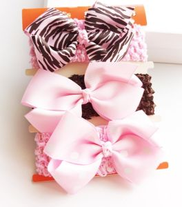 Wholesale Fashion Baby Hair Accessories Cotton Hair Band Ribbon Bowknot Hair Decoration pictures & photos