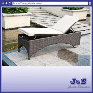 Outdoor Patio Rattan Chaise Lounge, Garden Wicker Furniture (J4275)