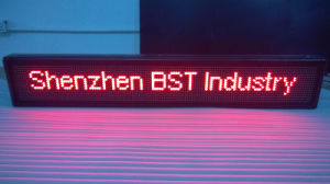 Programmable Semi-Outdoor Red Color LED Moving Sign (P10mm) pictures & photos