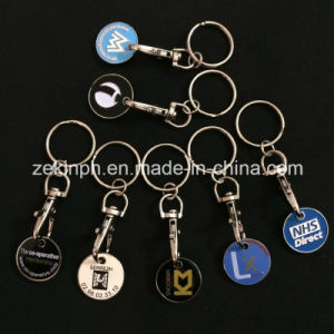 Custom Made Trolley Coin Keyring Factory pictures & photos