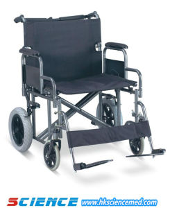 Steel Wheelchair for Fat Person Use, 61cm Seat Width (SC-SW26-61) pictures & photos