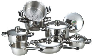 High Quality 12PCS Stainless Steel Cookware Set (CS112003) pictures & photos