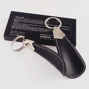 Laser Engrave Logo Stamp Leather Keyring Keychain Promotioinal Gift (F3032) pictures & photos