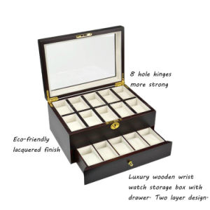 Custom Luxury 20 Slots Wooden Wrist Watch Storage Box Wholesale pictures & photos