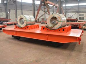 Steel Factory Applied Heavy Duty Coil Transfer Cart on Rails pictures & photos