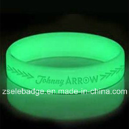 Glow in The Dark Silicone Wristband (Ele-SW006) pictures & photos