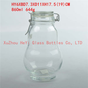 860ml Glass Food Jar Glass Storage Jar