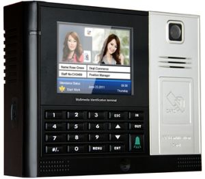 Electronic Proximity Punch Card Time Recorder with Access Control System