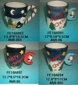 Ceramic Fancy Christmas Mugs Handpainting pictures & photos
