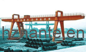 CE Approved Steel Inventory Yard A-Shape Gantry Crane (MG100T-38M-20M) pictures & photos