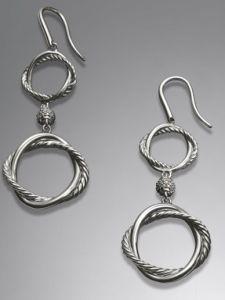 Sterling Silver Cubic Zircon Earrings (SSE-013)