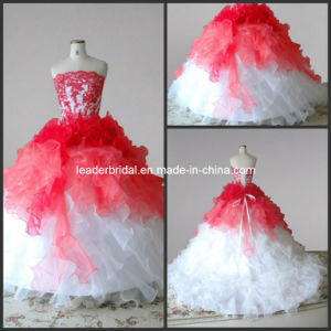 Prom Dresses Flower Girl Dress Tiered Girl′s Ball Gown F2014622 pictures & photos