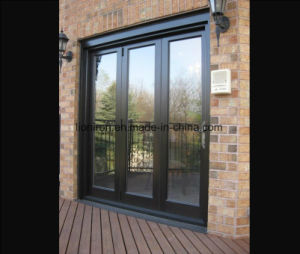 Eyebrow Hand Forge Wrought Iron Bifold Entry Door with Glass pictures & photos