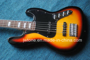 5string Sunburst Color Jazz Electric Bass Guitar pictures & photos