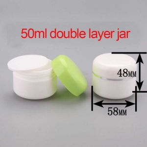 50ml PP Cosmetic Double Layer Cream/Lotion Jar pictures & photos
