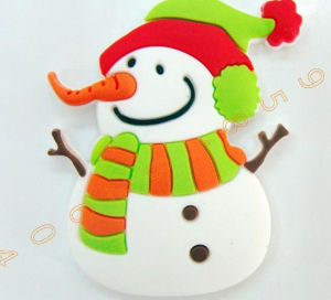 3D Christmas Snowman Resin Fridge Magnet for Christmas Gift pictures & photos