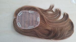 Hand Tied Hair Topper with 100% Brazilian Hair pictures & photos