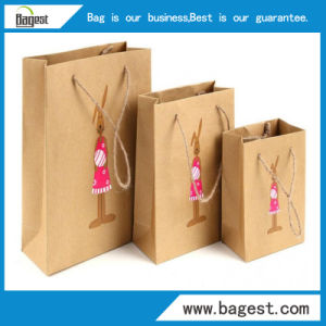 Fashion Kraft Paper Hand Bag Packing Paper Bag with Logo pictures & photos
