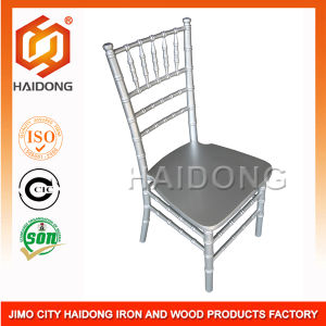 Wooden Chiavari Chair / Wood Tiffany Chair in Silver (HDCV-U01/02/) pictures & photos