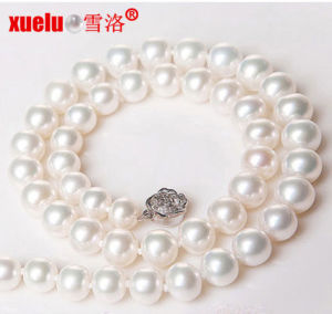 9-10mm Cheap Nearly Round Classic Freshwater Pearl Neckalce (E130018) pictures & photos