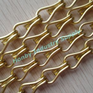 Home Decor Use 12mm Hook Size Golden Aluminum Chain Link Curtain pictures & photos