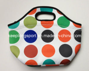 Sublimation Full Colors Printing Neoprene Lunch Bag, Neoprene Cooler Bag pictures & photos