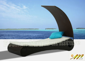 Outdoor Rattan Chaise Lounge with Cushion (M1B106)