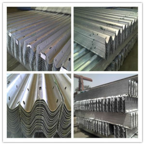 Ce Certificate Hot DIP Galvanized Coated W Beam Highway Guardrail Drawings pictures & photos