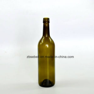 375ml, 750ml Green Bordeaux Glass Wine Bottle with Screw Top pictures & photos