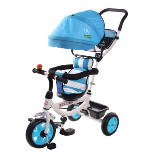 Rotating Seat Three Wheel Children Tricycle Baby Tricycle with Canopy pictures & photos