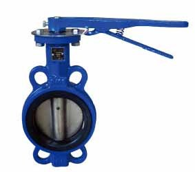 Cast Iron Soft Sealed PTFE Lever Operated Wafer Type Butterfly Valve pictures & photos